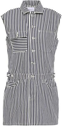 Current/Elliott Striped Denim Mini Dress