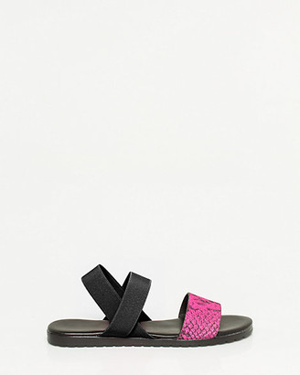 Le Château Snake Embossed Leather & Elastic Sandal