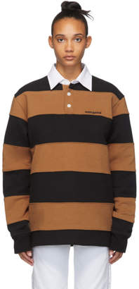 Noon Goons Brown and Black Fleece Fielders Rugby Polo