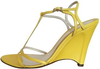 Fendi Yellow Leather Sandals