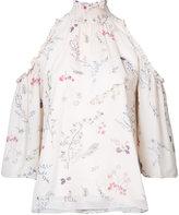 Rachel Zoe floral print cold-shoulder blouse - women - Silk/Polyester - 12