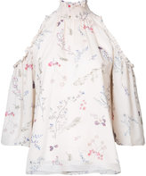 Rachel Zoe floral print cold-shoulder blouse