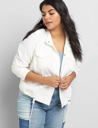 Lane Bryant Linen Shirt Jacket