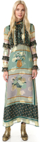 Anna Sui Patchwork Bouquet Maxi Dress