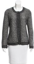 Chanel Metallic Cashmere-Blend Cardigan