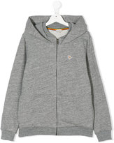Paul Smith zebra embroidery zipped hoodie