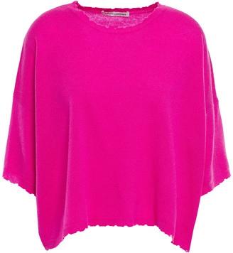 Autumn Cashmere Distressed Melange Cashmere Top