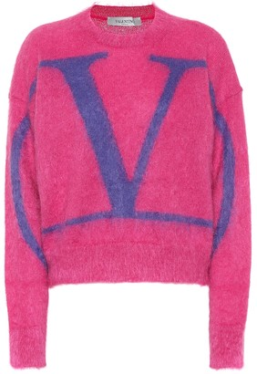 Valentino VLogo mohair wool-blend sweater