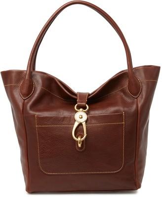 Dooney & Bourke Logo Lock Leather Shoulder Bag