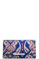 Quiz Blue Floral Clutch Bag