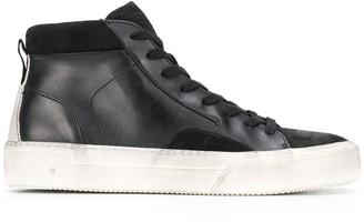 John Varvatos high-top distressed sneakers