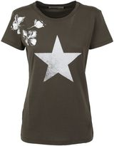 Valentino Olive Floral And Star Print T-shirt
