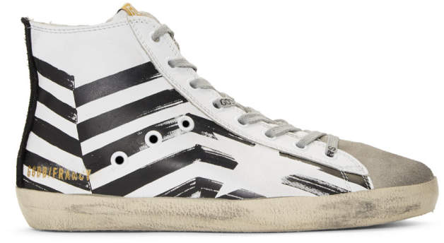 Golden Goose White Flag Francy High-Top Sneakers
