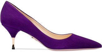 Prada suede 65 pumps