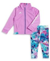 adidas Baby Girl's Tricot Jacket and Tight Set