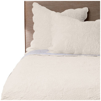 Amity Home Basty Line Quilt Set, Ivory, Queen
