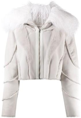 Almaz Fur-Collar Cropped Jacket