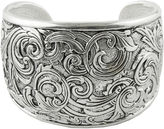 Barse BIJOUX BAR Art Smith by Textured Oxidized Silver-Plated Cuff Bracelet
