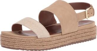 Naturalizer Womens Patience Tan Multi Platform Espadrille Sandals 5 M
