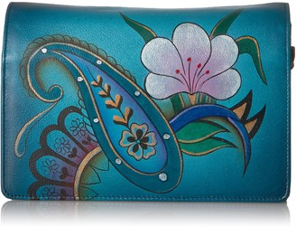 Anuschka Anna By Handpainted Leather Women's Two Fold Wallet On A String Wallet