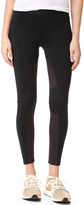 David Lerner Moto Leggings with Microsuede Detail