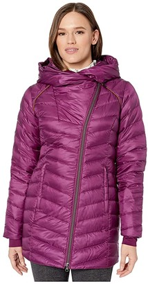 Spyder Timeless Long Down Jacket (Raisin) Women's Coat