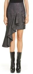 Michael Kors Cascade Asymmetrical Metallic Miniskirt