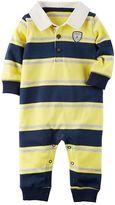 Carter's Baby Boy Striped Polo Coverall