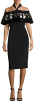 Temperley London Lyra Off The Shoulder Overlay Sheath Dress