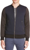 Scotch & Soda Quilted Sleeve Knit Baseball Jacket
