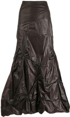 1990s Gathered Maxi Skirt