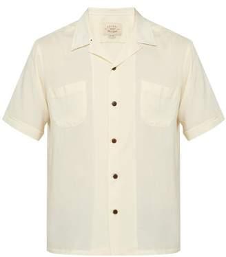 Holiday Boileau Cuban Collar Shirt - Mens - Cream