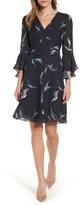 Women's Classiques Entier Bell Sleeve A-Line Print Silk Dress