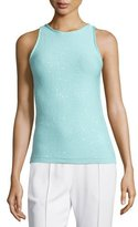 Escada Jewel-Neck Embellished Tank, Mint