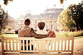 Fotomax Reprint image of Couple, Bride, Love, Wedding, Bench