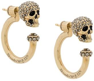 Alexander McQueen Crystal Skull Loop Earring