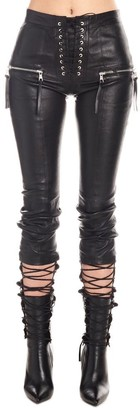Unravel Project Lace-Up Detail Skinny Jeans