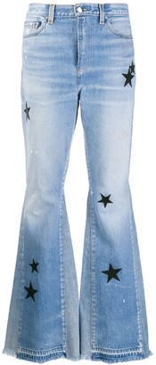Amiri Star Patch Flared Jeans