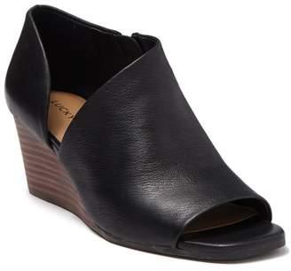 Lucky Brand Tylera Leather Wedge Sandal