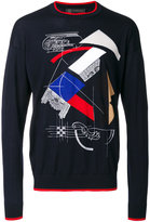 Versace Capitello print jumper - men - Spandex/Elastane/Wool - 46
