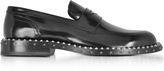 Jimmy Choo Black Leather Stars and Studs Men's Loafer