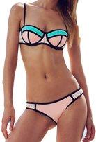 Ebuddy Women Crochet Neoprene Bikini Wet Suit Swimwear Swimsuit