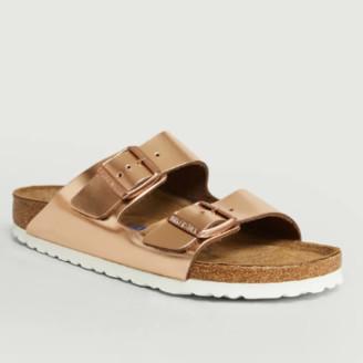 Birkenstock Bronze Leather Arizona Sandals - 35 | leather | bronze - Bronze