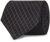 Armani Collezioni Black Diamond-jacquard Silk Tie