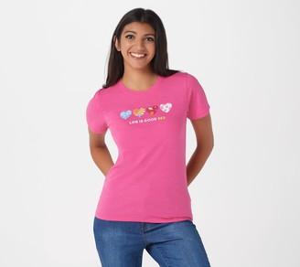Life is Good Short- Sleeve Cool T-Shirt