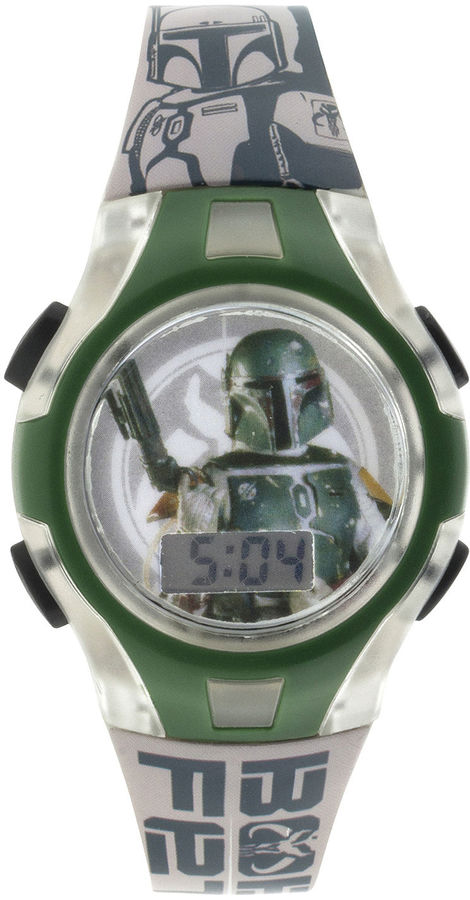 Star Wars Boba Fett Kids Flashing Digital Watch