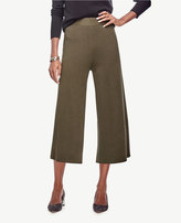 Ann Taylor Petite Knit Wide Leg Crop Pants