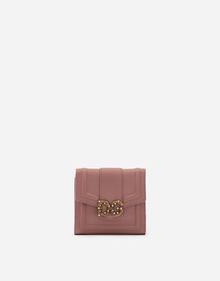 Dolce & Gabbana French Flap Amore Wallet In Calfskin