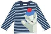 Jo-Jo JoJo Maman Bebe Badger Top (Toddler/Kid) - Navy/Blue Stripe-4-5 Years