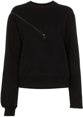 Unravel Project Tonal Zip-Detail Sweatshirt